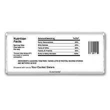 Baby Shower Nutrition Label