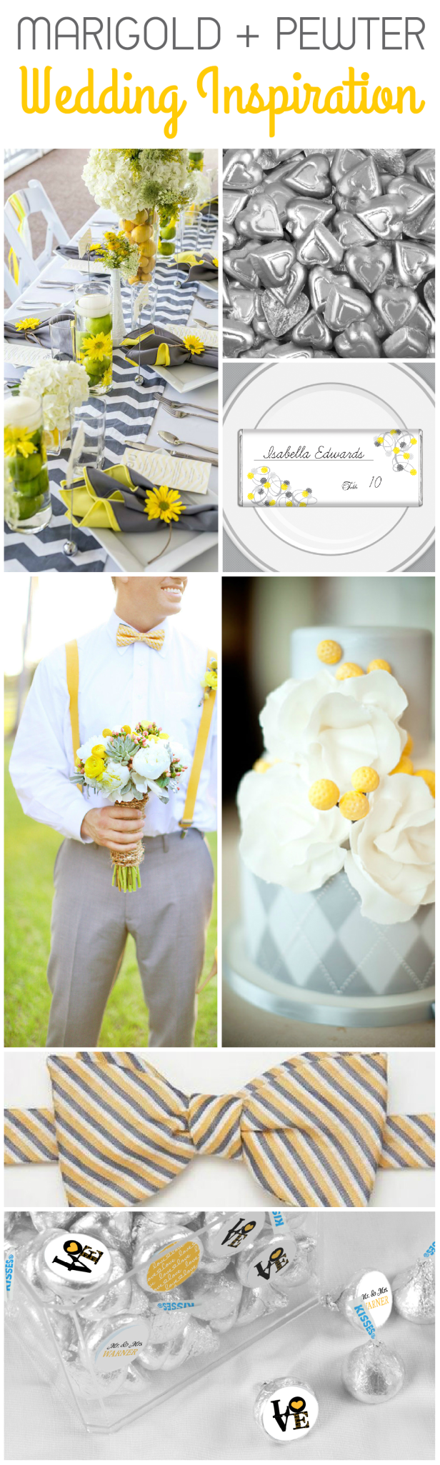 Marigold and Pewter Wedding Theme