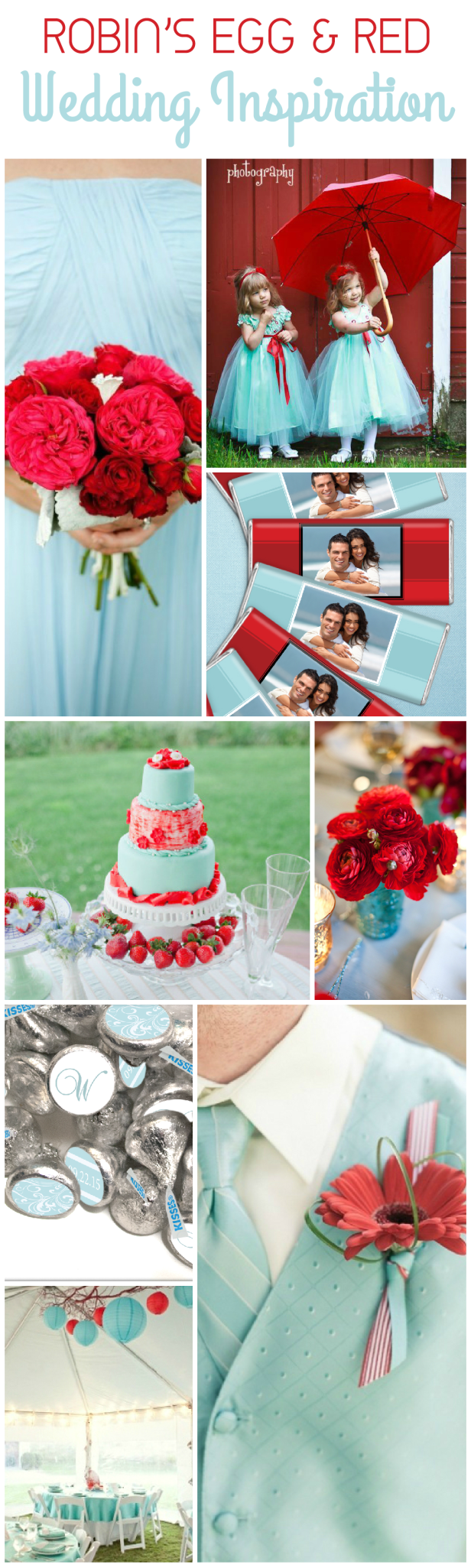Robins Egg Blue and Red Wedding Ideas
