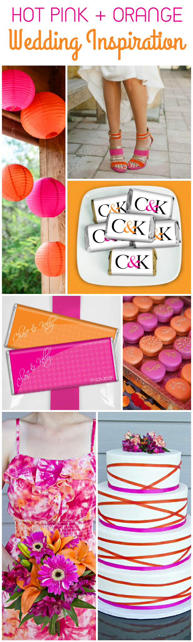 Hot Pink and Orange Wedding Ideas