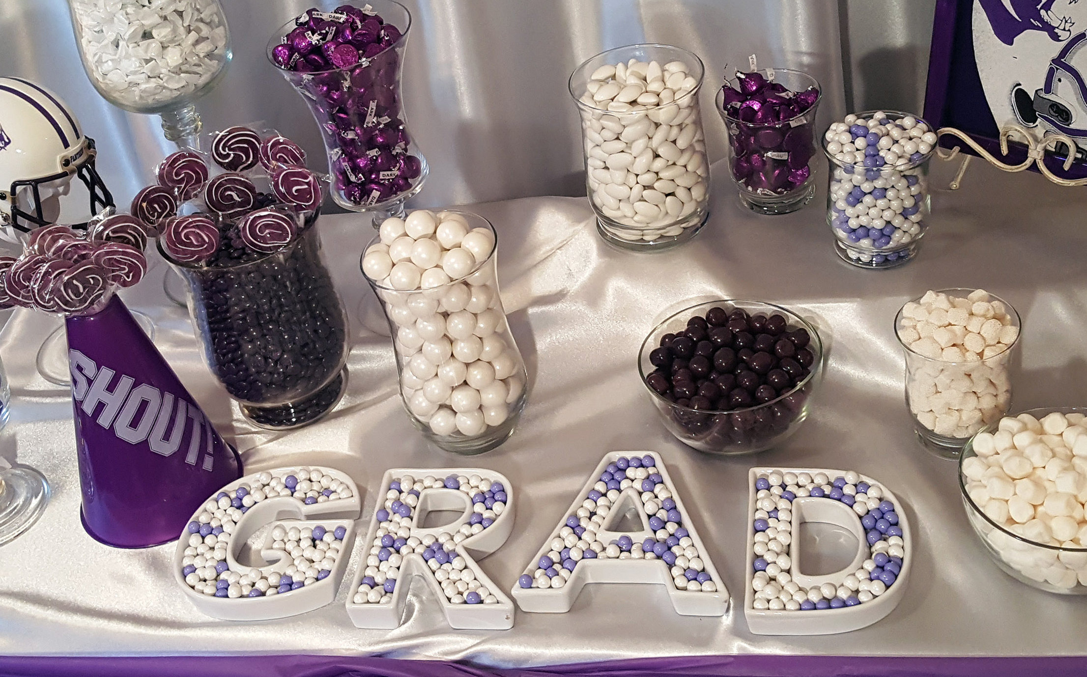 Purple Graduation Party Favor & Candy Ideas