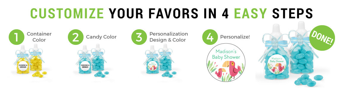 Customize Your Favors in 4 Easy Steps
