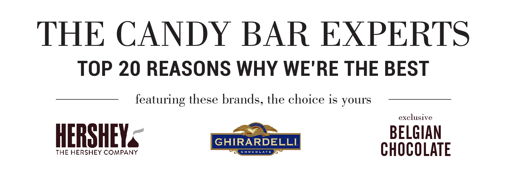 candy bar experts hershey ghirardelli belgian