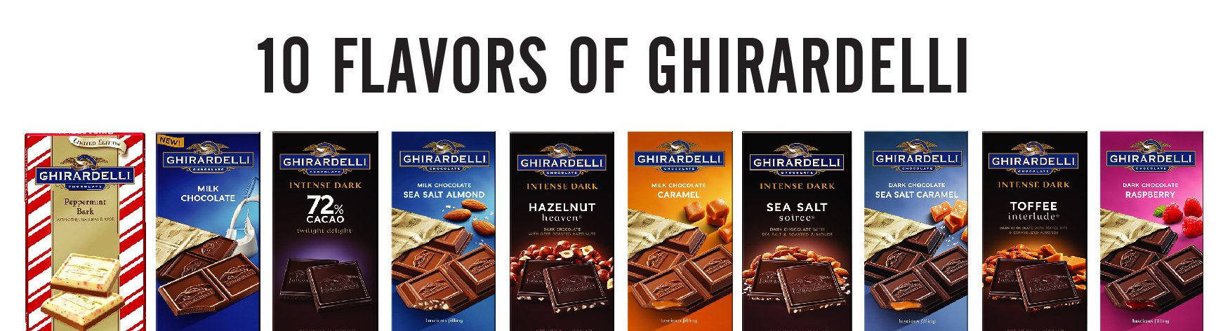 10 Flavors of Ghirardelli