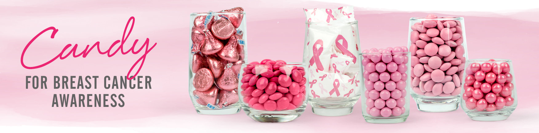 shop pink bulk candy for breast cancer awareness