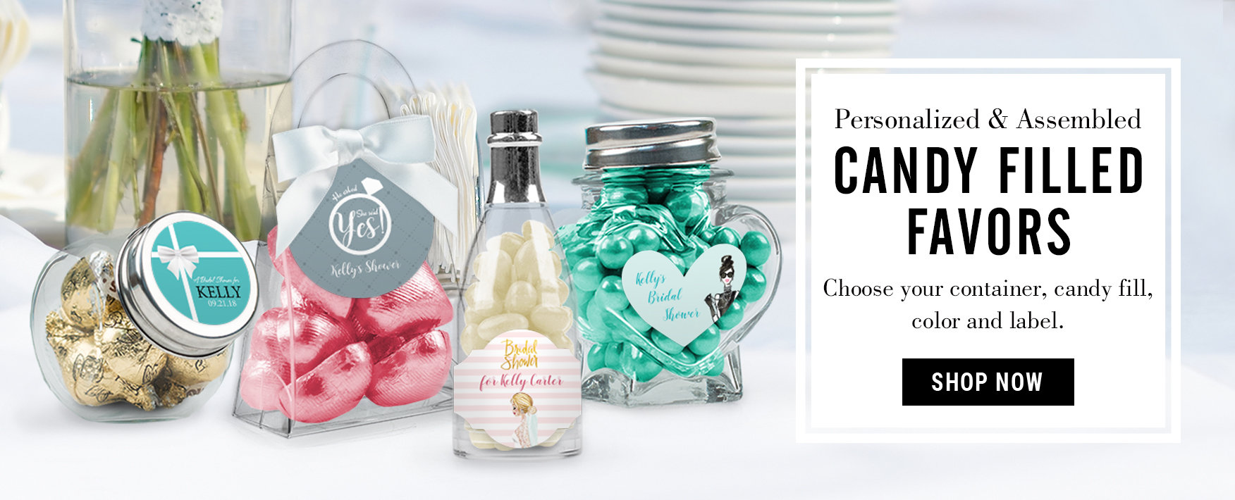 Personalized Bridal Shower Favors & Wedding Shower Candy Favors & Bars