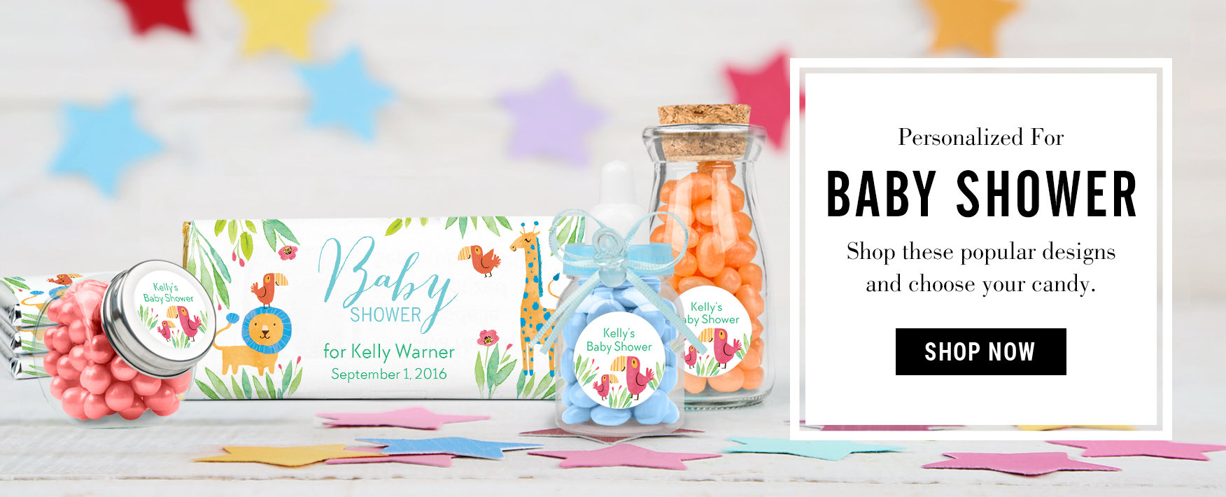 Personalized Baby Shower Favors Candy Bar Birth Announcements