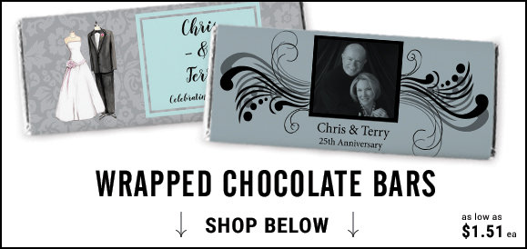 personalized 25th anniversary candy bars