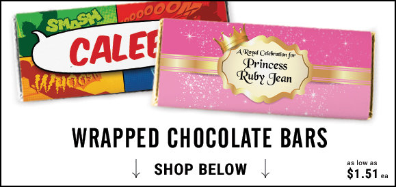 personalized kids birthday candy bars