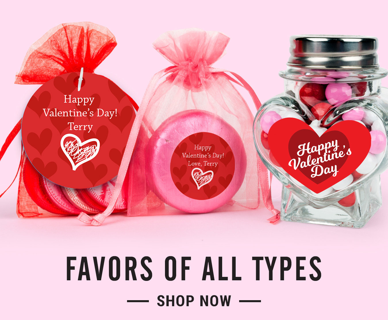 Personalized Valentine\'s Day Candy & Valentine Favors - WH Candy
