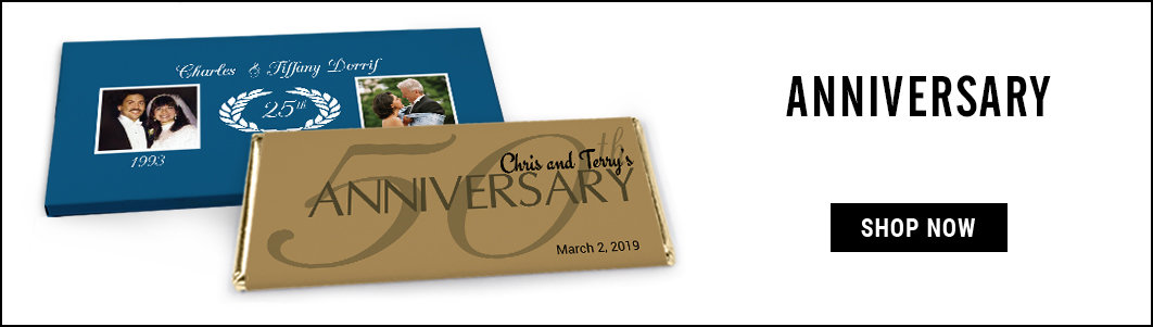 personalized anniversary candy bar wrappers and covers
