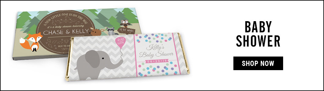 personalized baby shower candy bar wrappers and covers