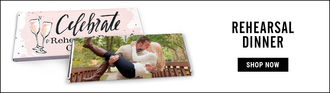 personalized rehearsal dinner candy bar wrappers and covers