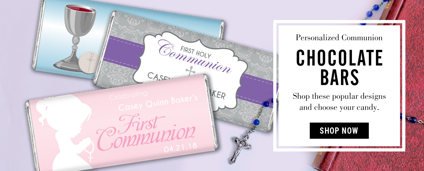 Personalized First Communion Chocolate Bars