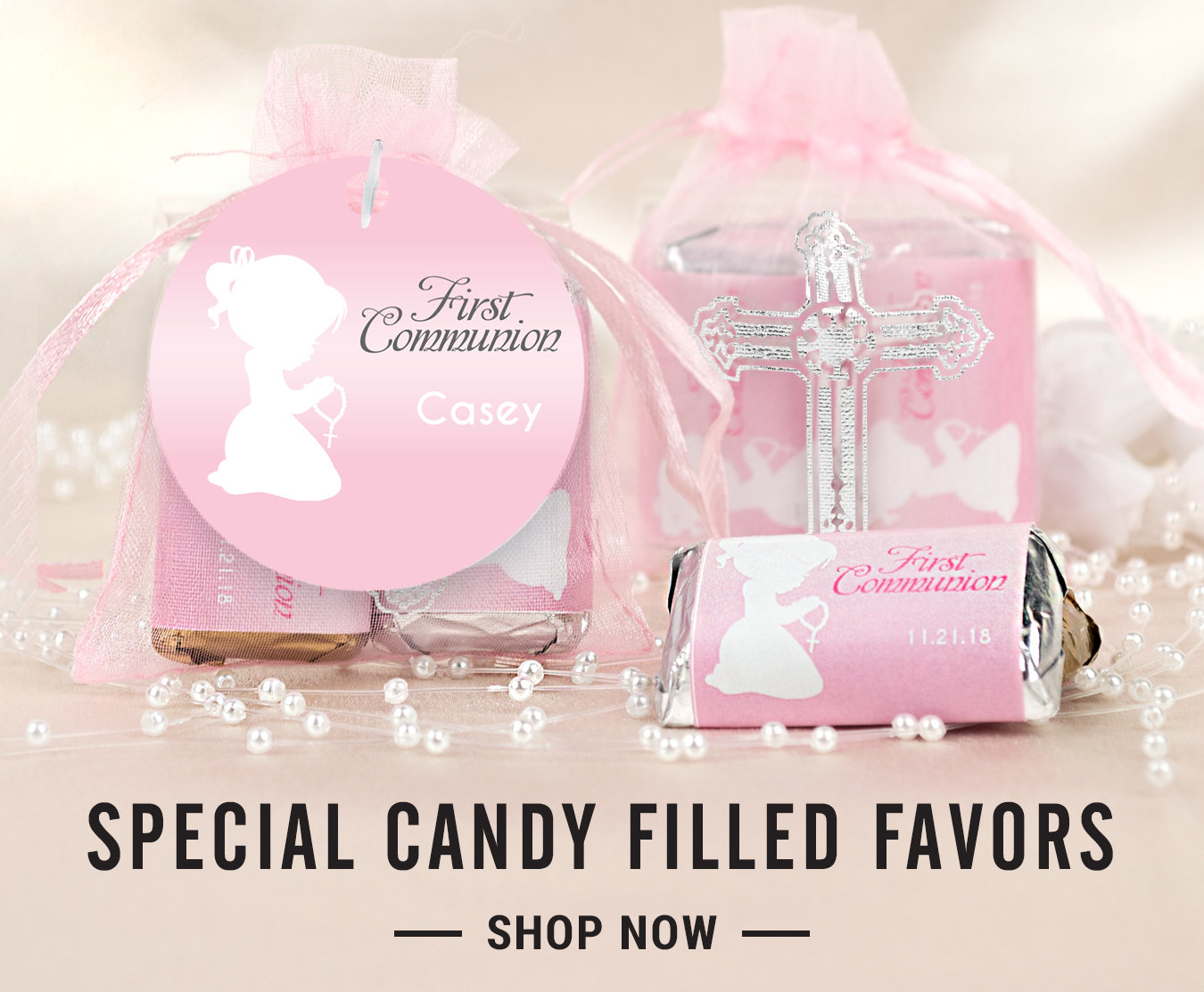 First Holy Communion Favors | Custom Chocolate Candy Bars and Wrappers