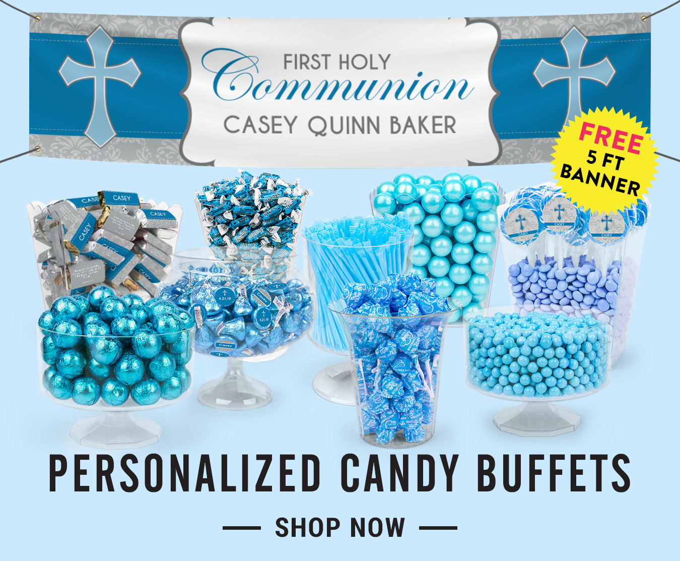 personalized first communion candy buffets