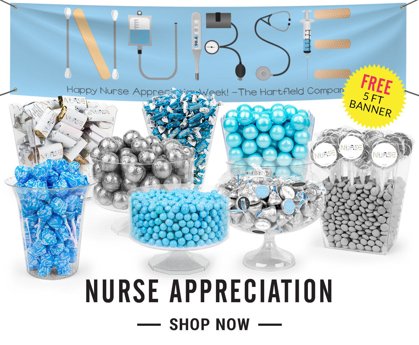 nurse appreciation candy buffets
