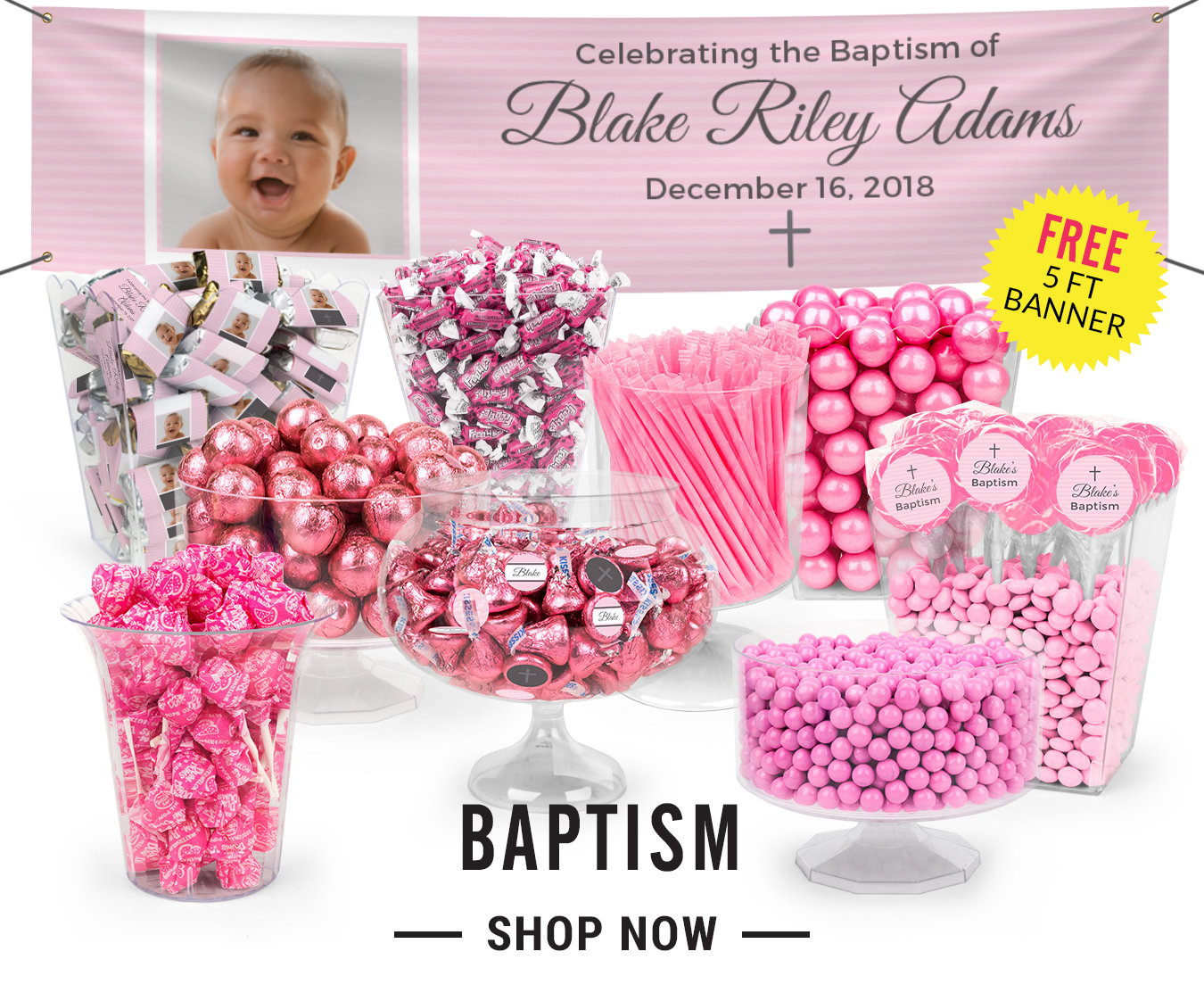 baptism candy buffet