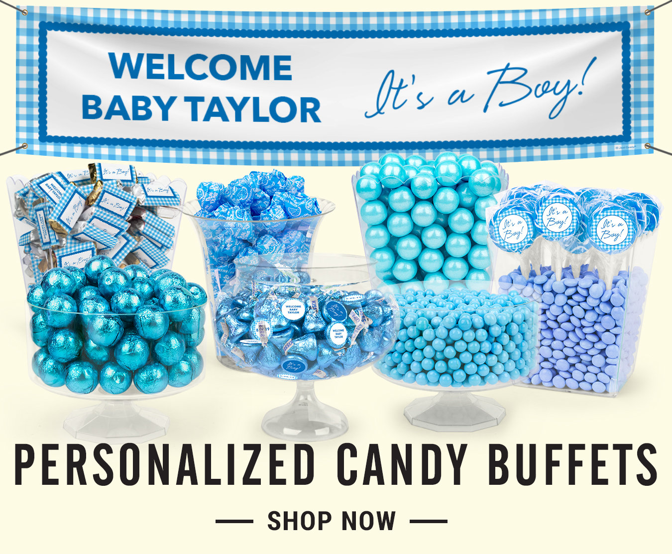 Shop Boy Birth Announcement Candy Buffets