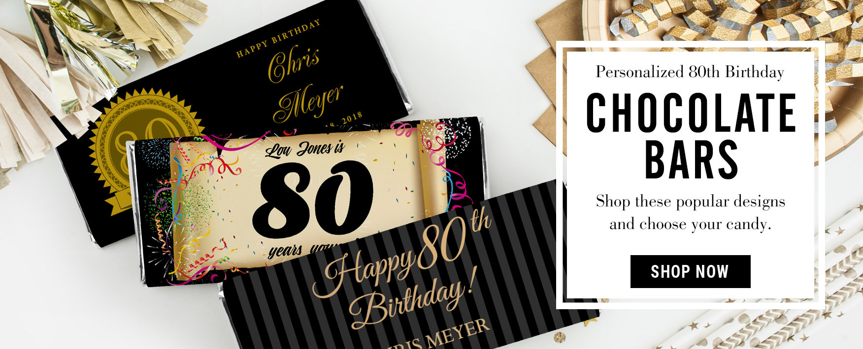 80th Birthday Party Favors