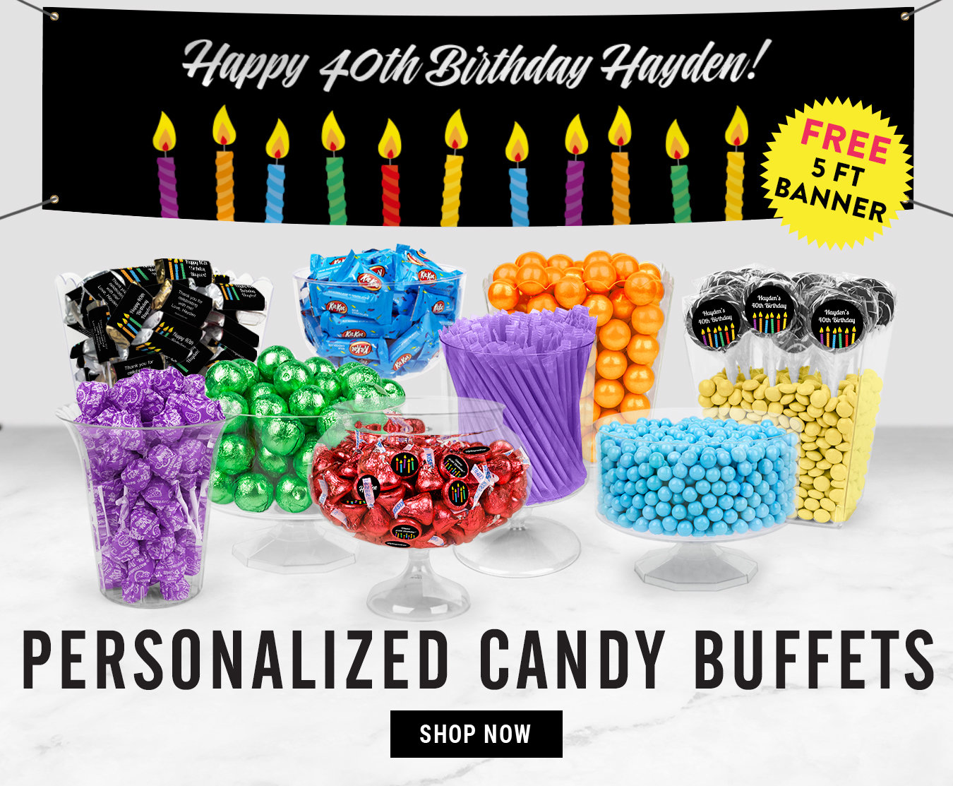 Personalized Candy Birthday Party Favors Chocolate Candy Bar Favors