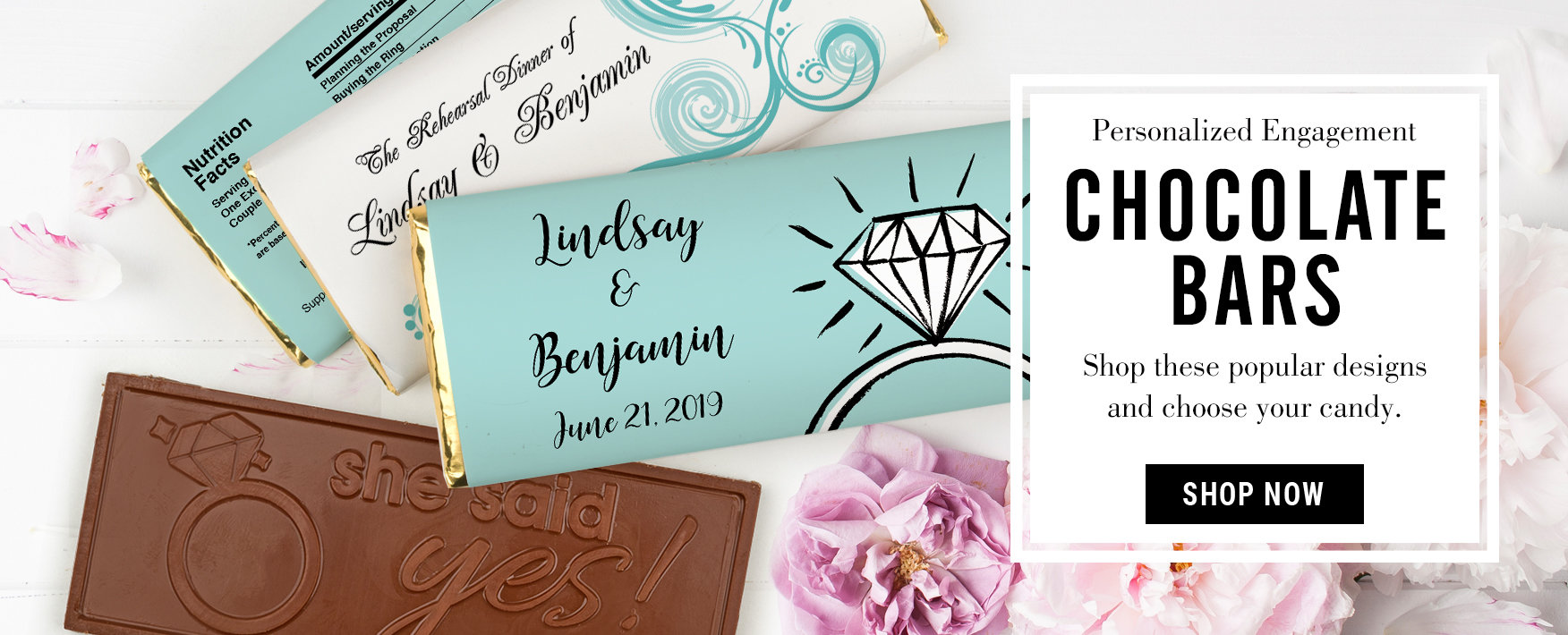 engagement chocolate bars