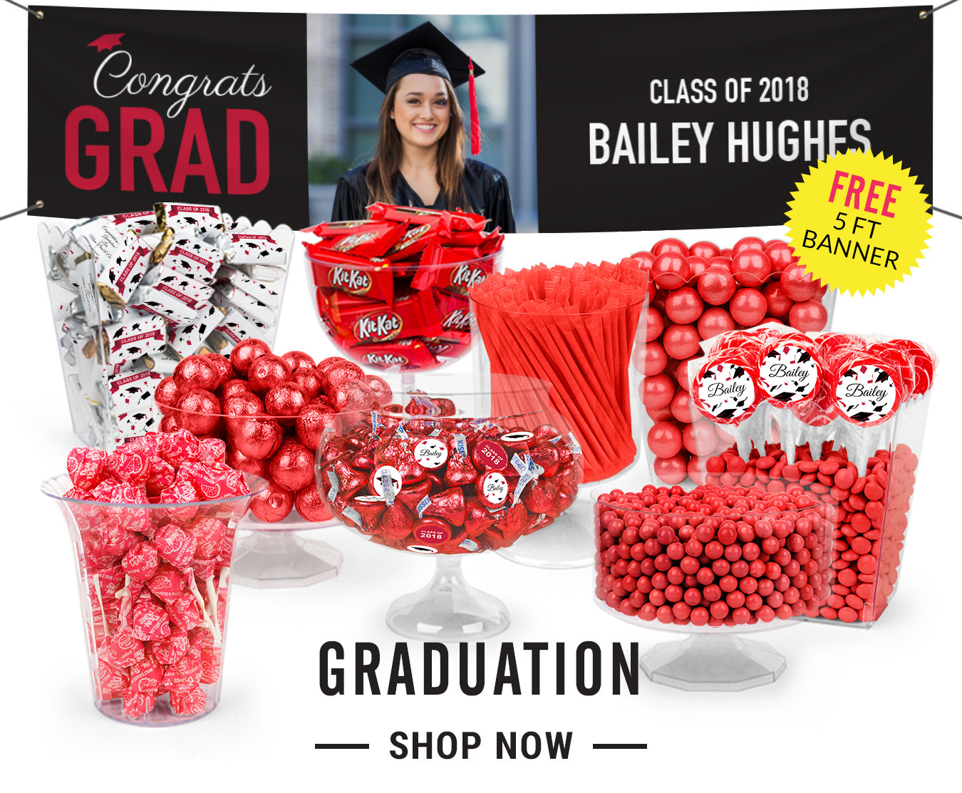 graduation candy buffet