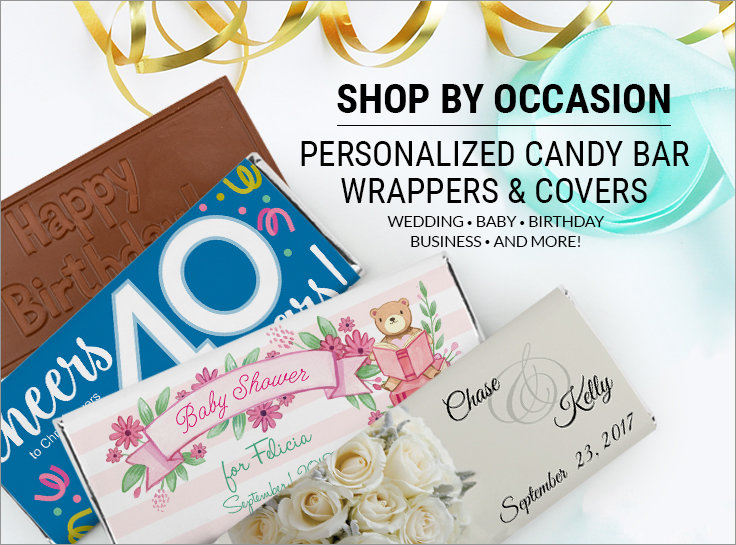 Shop Personalized Candy Bars and Wrappers