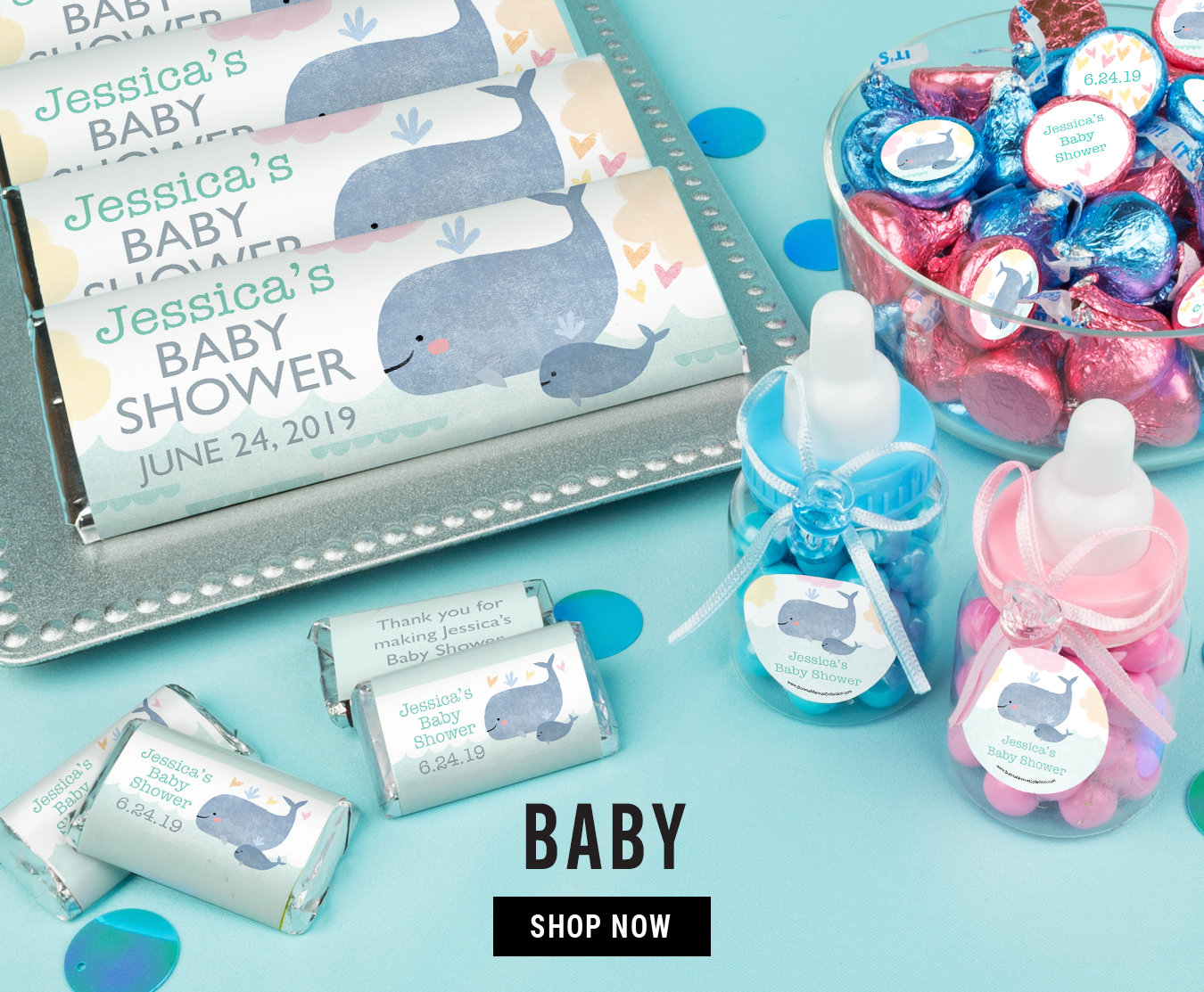 Shop Personalized Candy Baby Favors