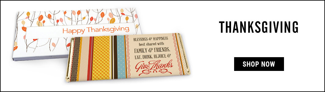 Personalized Thanksgiving Wrappers & Box Covers