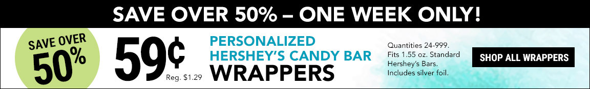 59cent Candy Bar Wrapper promo