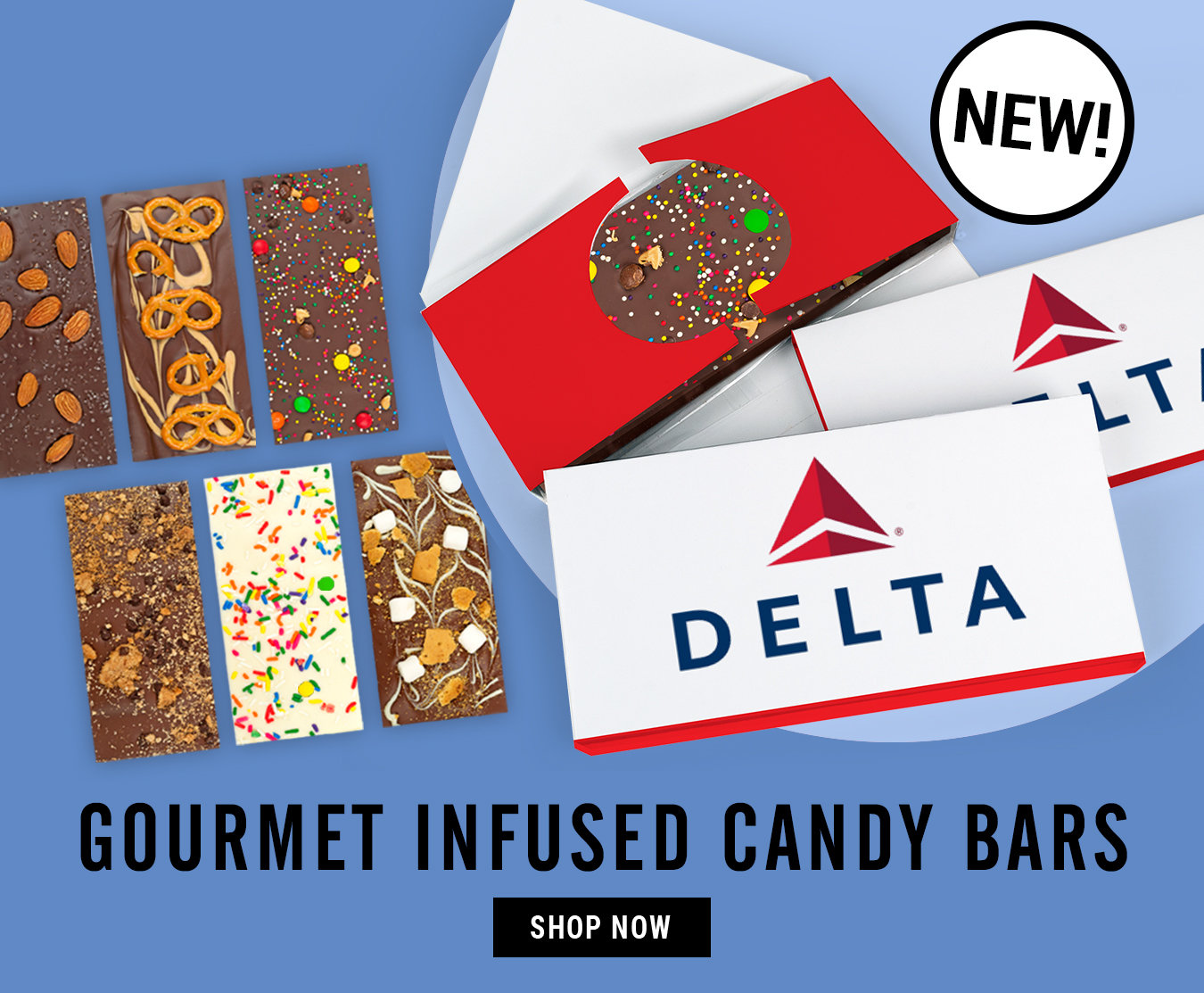 Shop Gourmet Infused Bars - infused with candy