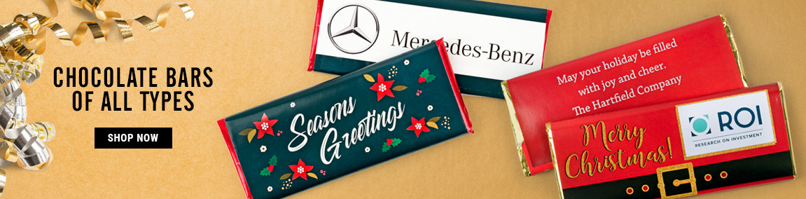 Holiday Personalized Chocolate Bars