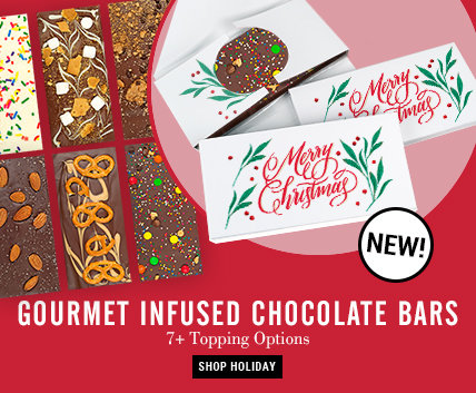 Christmas Gourmet Infused Chocolate Bars