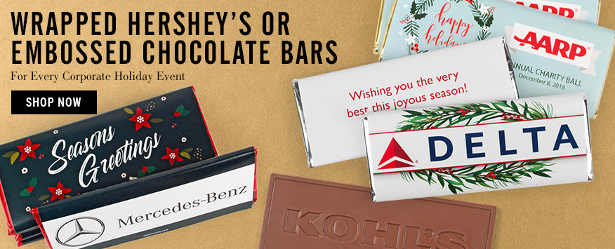 Corporate Christmas Candy Bars