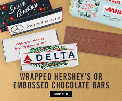 Wrapped Hershey's or Embossed Belgian Chocolate Bars