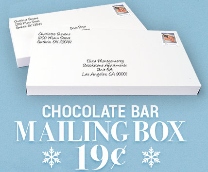 Chocolate Bar Mailing Box 19 cents each