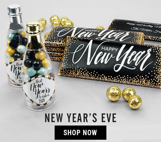 New Year's Eve Personalized Gifts and Favors