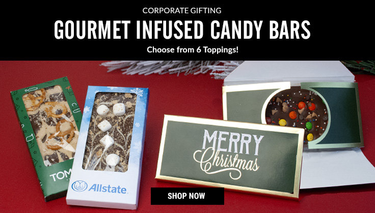 Corporate Personalized Infused Gourmet Candy Bars in a Gift Box