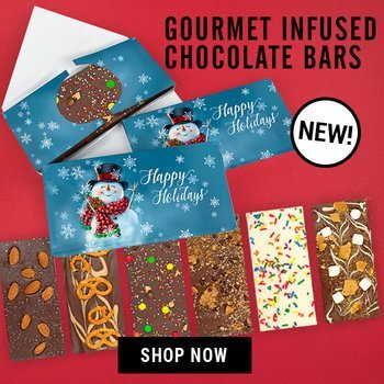 New Gourmet Infused Chocolate Bars in a Gift Box