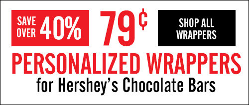 Shop 79 cent Personalized Hershey Bar Wrappers