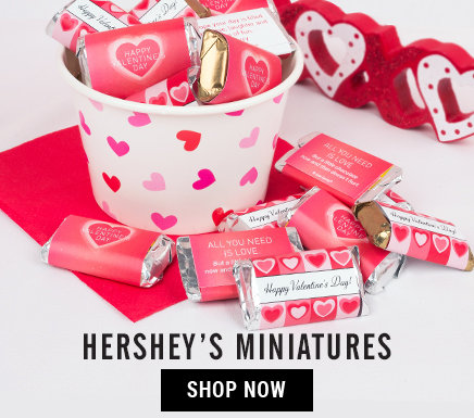 Personalized Valentine's Day Hershey's Miniatures