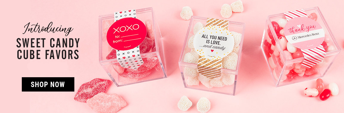 Shop Valentines Day Sweet Candy Cube Favors