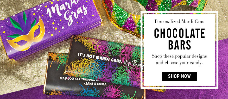 Mardi Gras Chocolate Bars