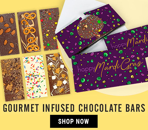 Mardi Gras Gourmet Infused Chocolate Bars