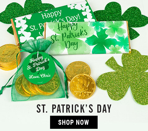 St. Patrick's Day Personalized Gifts and Favors