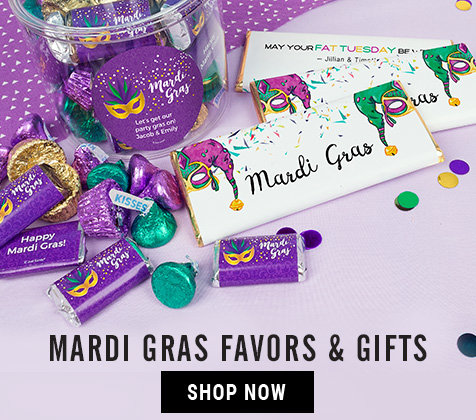 Shop Personalized Mardi Gras Gifts and Favors