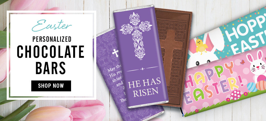 Shop Personalized Easter Chocolate Bars