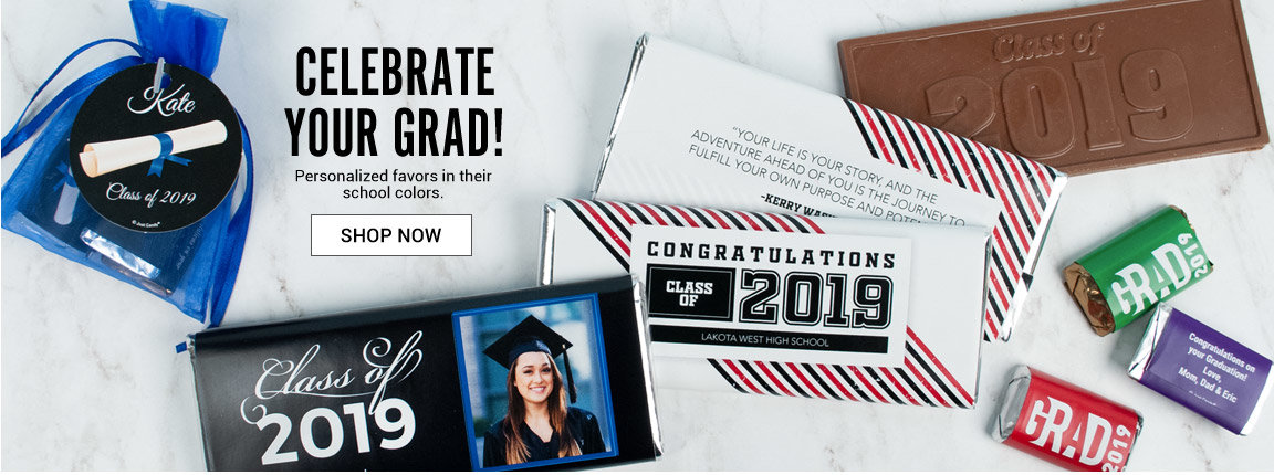 Celebrate your Graduate with Personalized  Favors