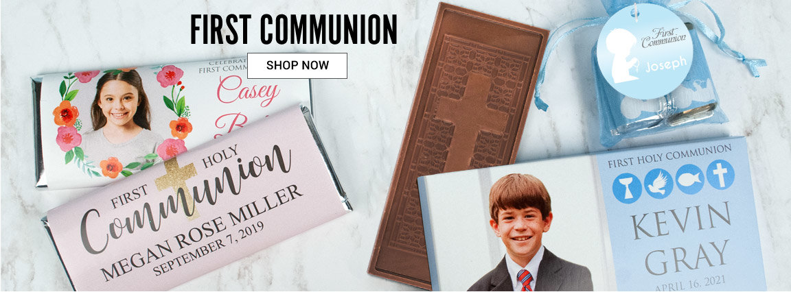 Shop First Communion personalized favors